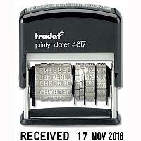 Trodat Printy 4817 Dater Stamp Self Inking Black