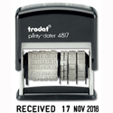 Trodat Printy 4817 Dater Stamp Self Inking Black