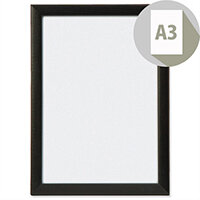 A3 Picture or Certificate Frame Portrait or Landscape Photo Album Company Wooden Frame PAWFA3B-BLK