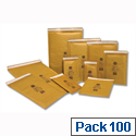 Jiffy Mailmiser Protective Envelopes Bubble Lined No.0 Gold 140x195mm (Pack of 100)
