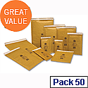 Jiffy Mailmiser Protective Envelopes Bubble Lined No.4 Gold 240x320mm (Pack of 50)