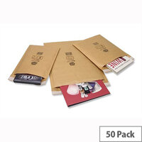 Jiffy AirKraft Size 3 Bubble Lined 220x320mm Gold Bag 50 Pack