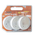 Smoke Alarm Battery-operated Alarm Test Button Low Charge Warning ES120 Pack 3