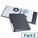 Durable CD and DVD Ring Binder Pocket for Index 40 x 4 Disks A4 Clear