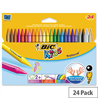 Bic Kids Plastidecor Coloured Crayons Assorted Pack of 24