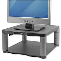 Fellowes Premium Monitor Riser 5 Heights 64-165mm Graphite