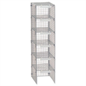 Extra Mailsorter Column Plastic-Coated Steel 6 Compartments Grey Versapak