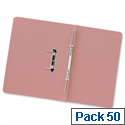 Transfer Spring Files Foolscap Pink Capacity 38mm Pack 50 Guildhall