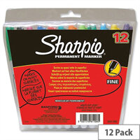 Sharpie Permanent Marker Fine Tip Assorted Wallet 12