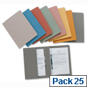 Yellow Transfer Spring Files with Inside Pocket 38mm Foolscap Pack 25 Guildhall