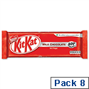 Nestle Kit Kat Milk Chocolate Bars 2 Finger Bars [Pack of 8]