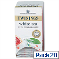 Twinings Infusion Tea Bags White Tea and Pomegranate Pack 20
