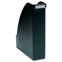 A4 Magazine File Extra Capacity Black Adjustable Spine Plus