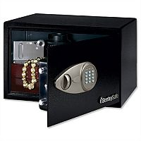 SentrySafe Master Lock Black Entry-Level Electronic Lock Safe 14L