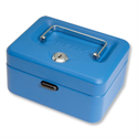 Cash Box Lockable 150mm Blue 2 Keys Removable Coin Tray WN6080