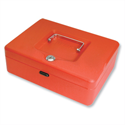 Cash Box Lockable 250mm Red 2 Keys Removable Coin Tray WN8060