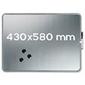 Nobo Slimline Magnetic Whiteboard 430 x 580mm Silver