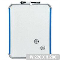 Nobo SlimLine Whiteboard Magnetic 220 x 14 x 280mm White/Blue