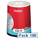Imation CD-R Recordable Disk Spindle 52x Speed 80Min 700Mb 18648 Pack 100