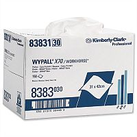 Kimberly-Clark Wypall X70 Heavy Duty Cleaning Wipers Cloths White Box of 150