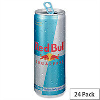 Red Bull Energy Drink Sugar-Free Can 250ml (Pack 24)