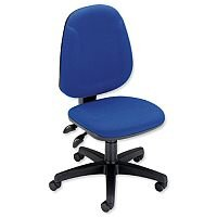 Trexus Plus Heavy Duty High Back Asynchronous Office Chair Blue
