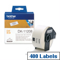 Brother DK11208 Address Labels Large 38 x 90mm White Roll of 400