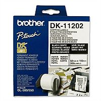 Brother DK11202 Shipping Labels 62 x 100mm White Roll of 300