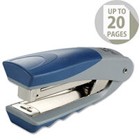 Rexel Centor Half Strip Stapler Vertical 20 Sheets Capacity Silver and Blue