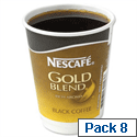 Nescafe & Go Gold Blend Black Coffee Foil Sealed Cups for Drinks Machine A02782 Pack 8