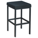 Trexus High Stool with Foot Bar Upholstered Seat W410xD410xH700mm Charcoal 746256