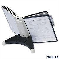 Durable Desk Display Unit Complete 10 Index Tabs 5 Black 5 Grey Panels