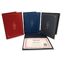 Blue Certificate Covers Linen Finish Card 10x8 290g Pack 5 Computer Craft