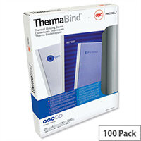 GBC Thermal Binding Covers 6mm Front PVC Clear Back Gloss A4 White (Pack of 100)