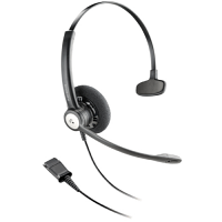 Plantronics Entera HW111N/A Mono Corded Headset - Noise-Cancelling Microphone - Quick Disconnect plug