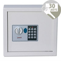 Phoenix Electronic Key Safe Cabinet with Fixings Keyrings and Tags 30 Keys
