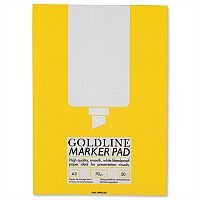 Goldline A3 Marker Pad Bleedproof 100 Pages White GPB1A3Z