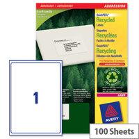 Avery LR7167-100 Laser Label 199.6 x 289.1mm (100 Labels)