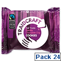 Traidcraft Cookies Double Chocolate Fairtrade 2 per Minipack Pack 24