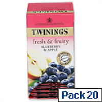 Twinings Infusion Tea Bags Blueberry and Apple Pack 20