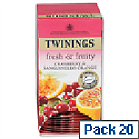 Twinings Infusion Tea Bags Cranberry and Orange Pack 20