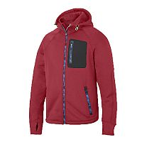 Snickers 8000 FlexiWork Stretch Fleece Hoodie Red/Black