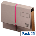 Legal Deed Wallet Manilla Foolscap Buff with Pink Ribbon Pack 25 Elba