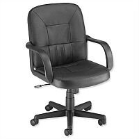 Trexus Rutland Leather Managers Office Armchair Black Ref 10312-02F