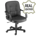 Trexus Rutland Leather Managers Armchair Black Ref 10312-02F