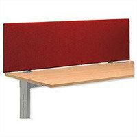 Trexus Over Desk Screen 1400x450mm Burgundy Ref SP809345 809345