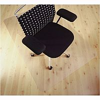 Chair Mat Anti-slip Protective Adhesive for Hard Floors Rectangular 1190x890mm Cleartex Ultimat