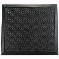 Mat Anti-fatigue Rubber Textured Anti-slip Bevelled-edge 710x780mm Ripple Pattern Doortex