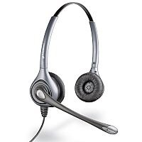 Plantronics SupraPlus Binaural Noise-Cancelling Wideband Headset Silver