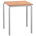 Trexus Stacking Classroom Table Square Assembled W600xD600xH710mm Beech Ref CN0606M-710
